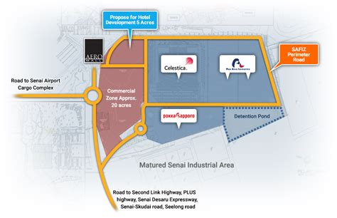layout zone senai international airport johor bahru malaysia senai