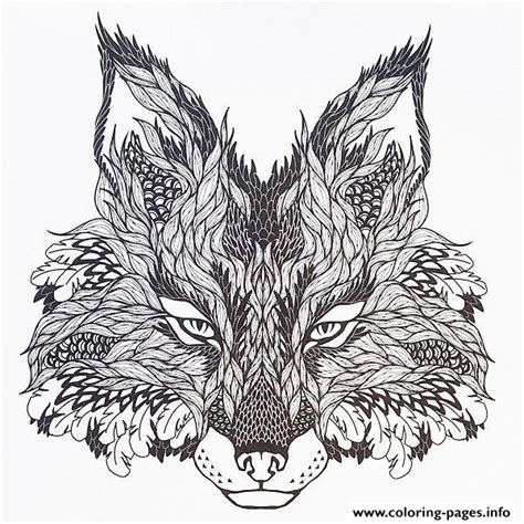 coloring pages for adults difficult animals print adults difficult animals wolf hd color coloring