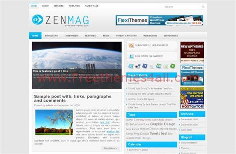 wordpress themes free blue blue news blog wordpress theme download