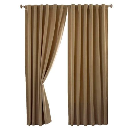 home depot curtain panels absolute zero total blackout cafe faux velvet curtain