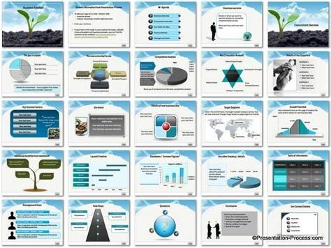 business presentation template business ambition powerpoint template