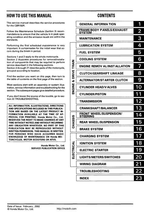free service manuals online 2002 honda pilot seat position control honda cbr150 r service manual english