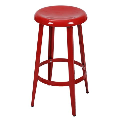 26 Inch Stool by Joveco Metal Top Backless 26 Inch Stool