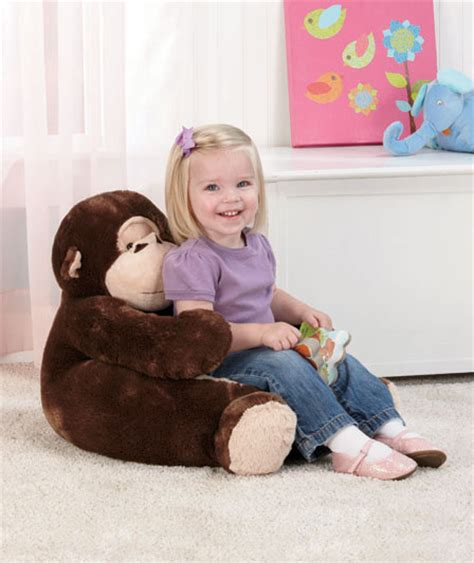 childrens reading chairs uk monkey 18 quot plush animal chair child toddler for tv