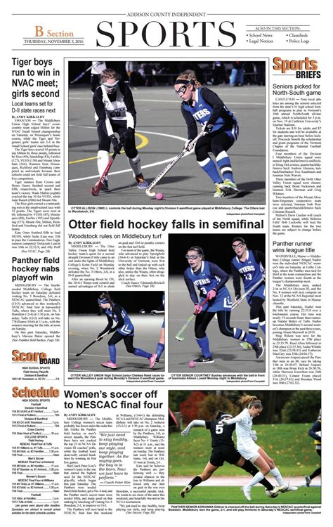 sunday independent sports section nov 3 2016 b section by addisonpress issuu