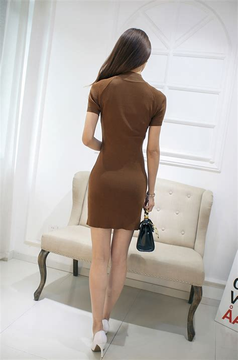 Sale Dress Import 9152 Brown Pink Slit Dress S M L uptown brown dress dresses ministryofretail top singapore shopping site for