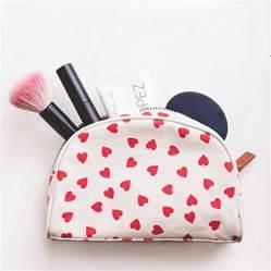 hearts make up bag by alphabet bags notonthehighstreet com