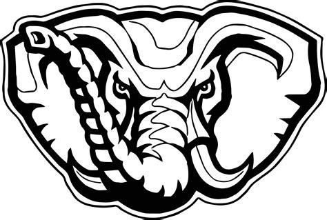elephant football logo alabama crimson tide coloring page