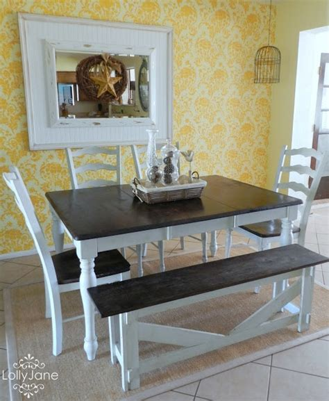 Diy Dining Room Table Makeover diy amazing thrift dining room table set makeover so