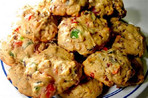 fruit cake cookie recipe fruitcake cookies made with cake mix