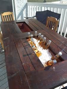 Patio Table With Built In Cooler For Sale by Diy Deck Table With Built In Cooler