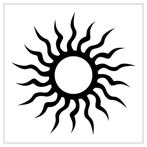 tribal sun tattoos designer sun tribal design