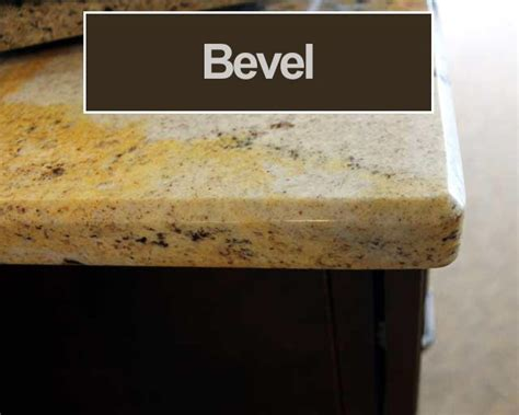 Eased Edge Granite Countertop by Granite Edge Profiles Mettes Cabinet Corner