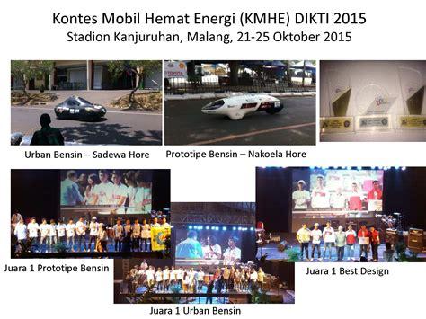 Ac 1 Pk Hemat Energi ui juara 1 pada kontes mobil hemat energi kmhe dikti