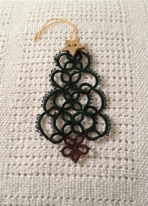 christmas tree tatting pattern 94 best images about awesome holiday tatting on pinterest