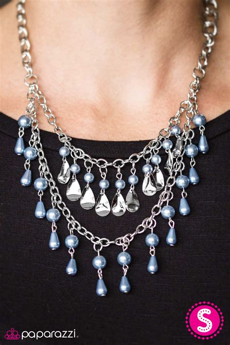the drop the drop top blue paparazzi necklace paparazzi jewelry catalog