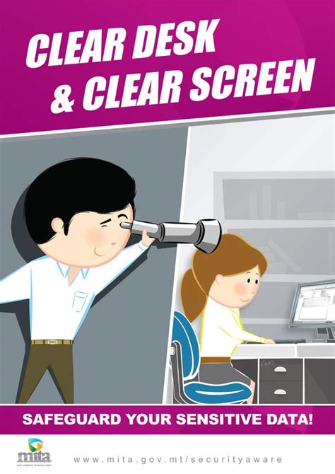 Clean Desk Policy Poster by Security Awareness