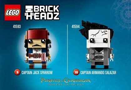 Sale Lego 41594 Brickheadz Captain Armando Salazar lego captain armando salazar 41594 brickheadz