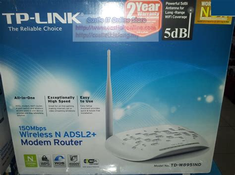 Murah Tp Link Adsl Td W8951nd tp link modem router wireless n150mbps adsl2 td end 5 24 2015 10 40 00 pm