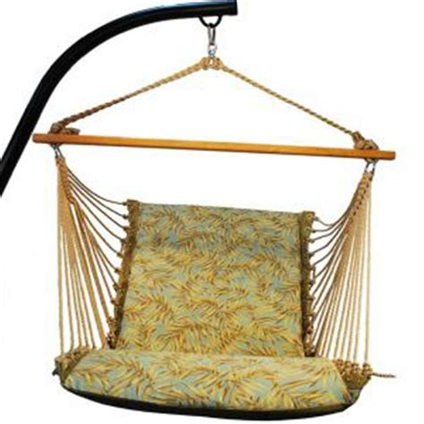 algoma hanging chair and cushion 180724 patio furniture at sportsman s guide