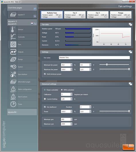 pc fan controller software aqua computer aquaero 5 xt usb fan controller review