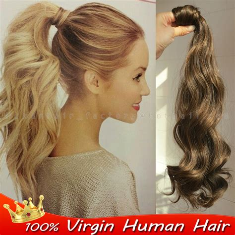 real ponytail hair extensions 2015 malaysian wrap around ponytail extension real remy h