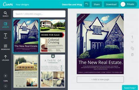 design custom real estate flyers with our free layouts