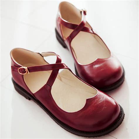 flat shoes vintage preppy style vintage toe cross flat shoes
