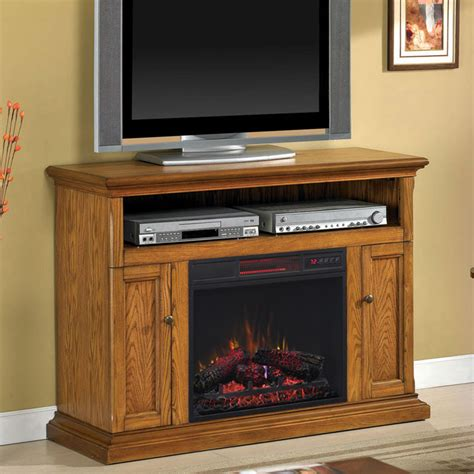 Cannes Infrared Electric Fireplace Media Console In Media Fireplace Console