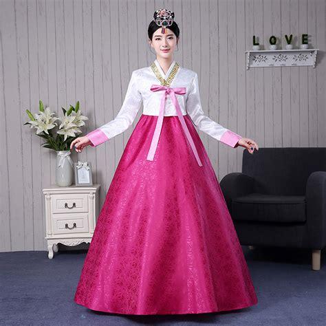 desain dress korea 7 colors korean traditional clothing cotton hanbok korean