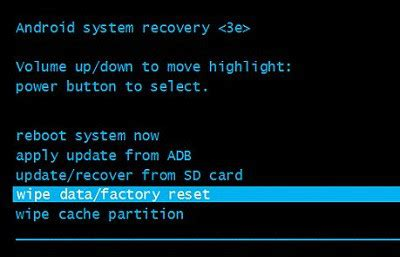 android system recovery how to reset a samsung galaxy phone
