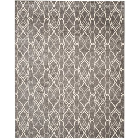 Lightweight Outdoor Rug Safavieh Amherst Gray Light Gray 9 Ft X 12 Ft Indoor Outdoor Area Rug Amt417c 9 The Home Depot