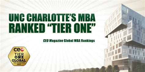 Unc Ranking Mba by Unc S Mba Once Again Named A Tier 1 Program In