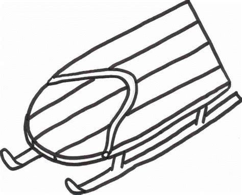 free coloring pages of sled