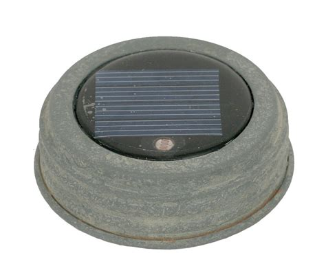 solar lid light solar jar lid light weathered galvanized