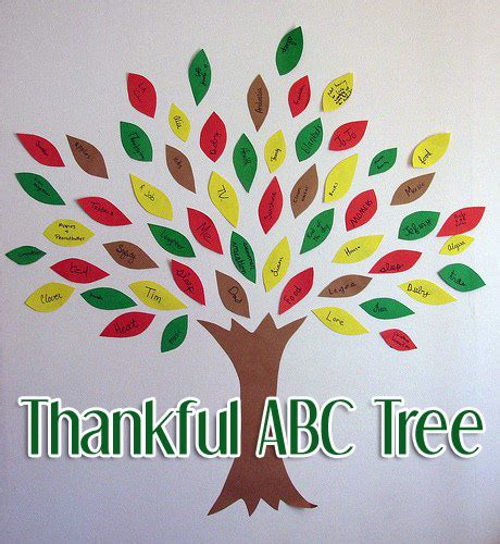 tree activities quot thankful abc tree quot a thanksgiving craft of gratitude