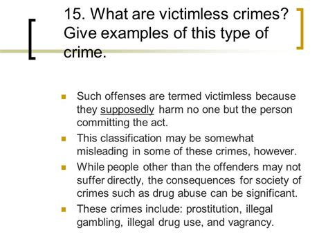 give some exles of foreshadowing in this section victimless crime statistics