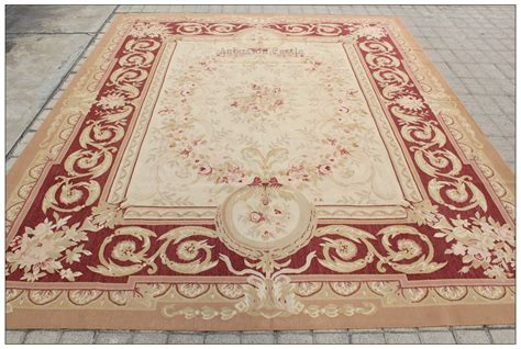 Antique Area Rug Antique Beige 8x10 Aubusson Area Rug Classic Pastel Wool Woven Carpet Ebay
