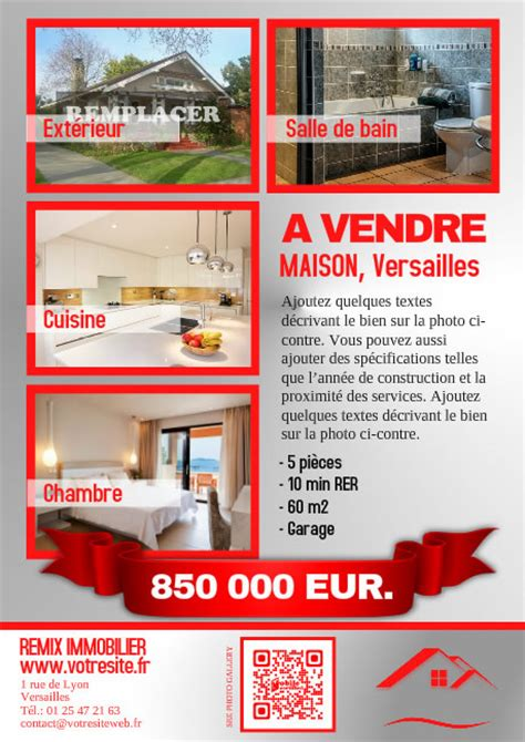 affiche maison a louer flyer pour agence immo orpi et remax postermywall fr