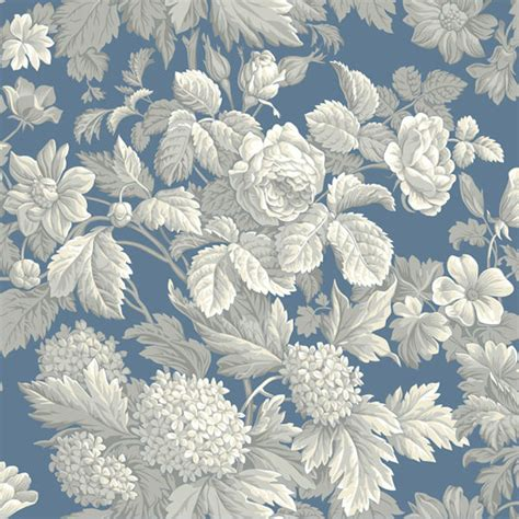 wallpaper grey floral blue and grey antique floral wallpaper