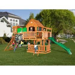 backyard sets backyard discovery woodridge all cedar swing set