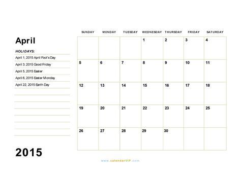 printable calendar 2015 april april 2015 calendar blank printable calendar template in