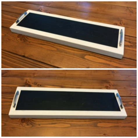 diy chalkboard tray diy kitchen table centerpiece serving tray diy