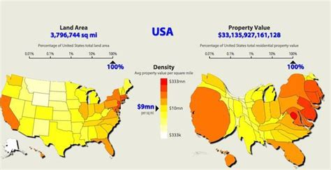 United States Property Records This Map Of United States Property Value Renders The Country Unrecognizable Hopes Fears