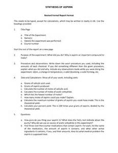 Formal Report Template by Formal Report