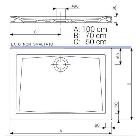 piatto doccia 60 cm pozzi ginori piatto doccia 100x70 cm bianco lucido
