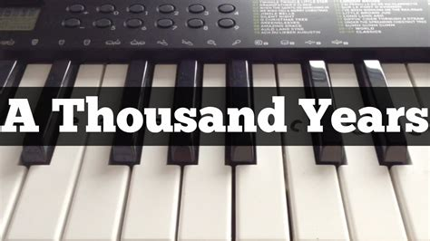 Tutorial Keyboard A Thousand Years | a thousand years christina perri easy keyboard