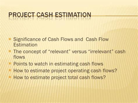exle of cash flow estimation capital budgeting cash flow estimation