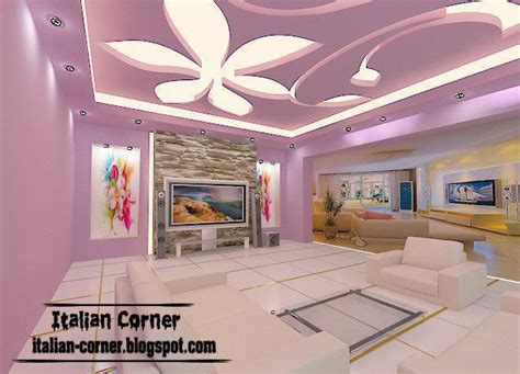 Gypsum Interior Ceiling Design by Italian Gypsum Ceiling Interior Design 2013 For Living Room