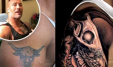 dwayne johnson tattoo bull dwayne johnson shares story behind his updated arm tattoo